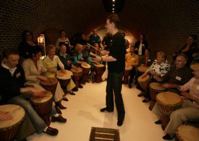 foto percussieworkshop Dununba